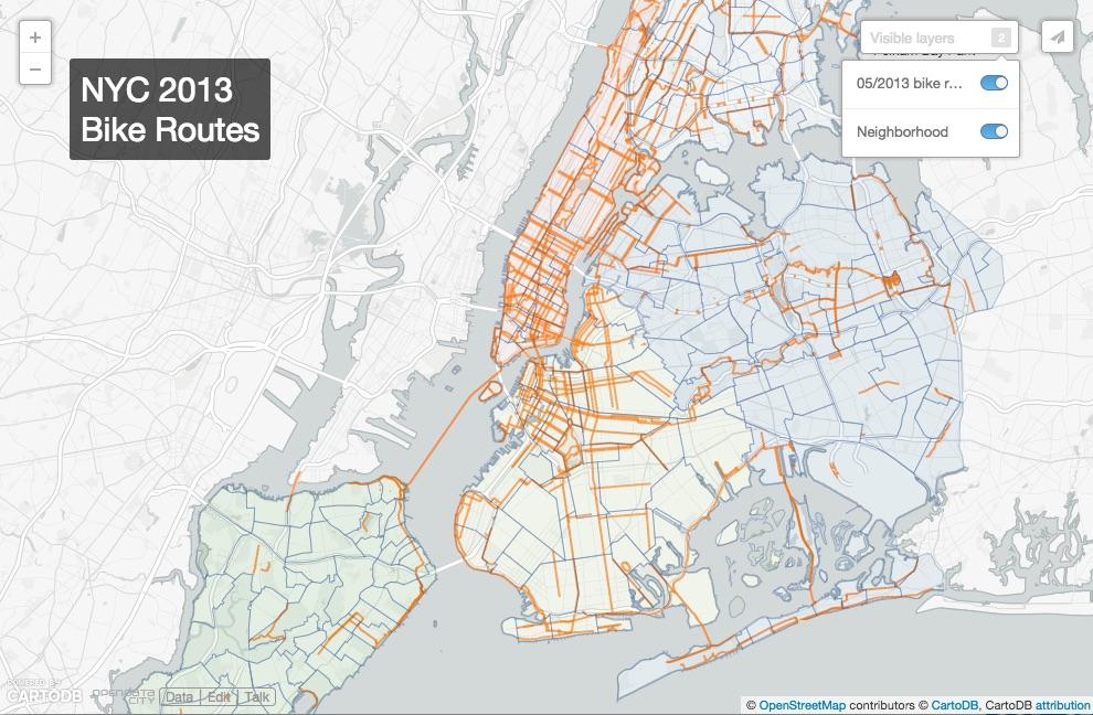 Bike Routes over Time (WIP)