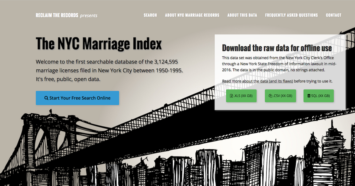NYC Marriage Index